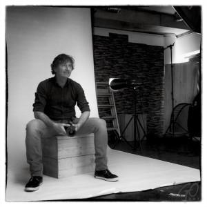 Sander Ruijg in zijn fotostudio in Amersfoort.