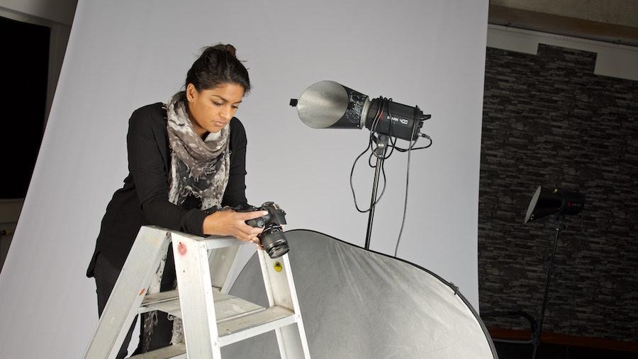 Latha Spelt - portret in studio. Fotoschool Keistad.