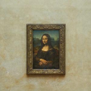 Mona Lisa smartphone versus spiegelreflex